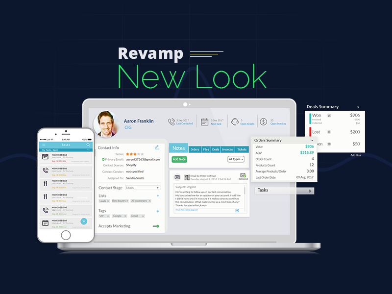 Revampcrm.com New look – January 2018 Product Update