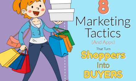 Marketing Tactics : 8 Tips that turns Shoppers into Buyers infographic